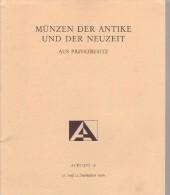 Münzen Der Antike Und Der Neuzeit - Auctiones AG - Basel - 21-22 September 1989 - Allemand