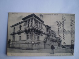 Cascaes Cascais (Arredores De Lisboa) - Casa Trindade Baptista 1907 // Rare Adres Side! Deutsche Seepost Stempel! - Portugal