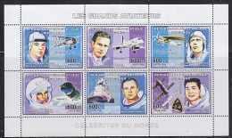 Congo 2006 Les Grands Aviateurs M/s PERFORATED ** Mnh (F4972) - Ongebruikt