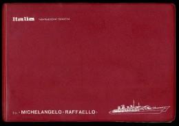 BOOK FOTOGRAFICO NAVIGAZIONE ITALIA LA T/N MICHELANGELO - RAFFAELLO 54 FOTO - Schiffe