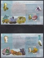 Congo 2006 Les Grands Mineralogistes / Minerals 2 M/s PERFORATED ** Mnh (F4978) - Democratische Republiek Congo (1997 - ...)