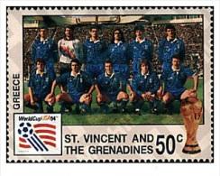 ST. VINCENT 1994 TP MNH** GREECE GRECE FOOTBALL WORLD CUP USA 94 . COPA DEL MUNDO DE FUTBOL. USA-94 - World Cup