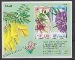 New Zealand - Nouvelle Zelande 1999 Yvert BF 135 China´99, International Philatelic Exhibition - Miniature Sheet - MNH - Nueva Zelanda