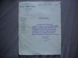 WALINCOURT NORD ETABLts PROY FRERES TRESSAGE MANUFACTURE DE DENTELLES 7 ET 9 RUE DE CAMBRAI CERTIFICAT DU 4 MARS 1948 - Francia