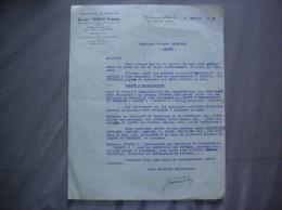 WALINCOURT NORD ETABLts PROY FRERES  MANUFACTURE DE DENTELLES 7 ET 9 RUE DE CAMBRAI COURRIER  DU 13 JANVIER 1942 - Francia