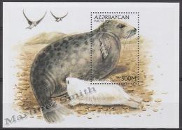 Azerbaidjan - Azerbaijan - Azerbaycan 1997 Yvert BF 35A, Seals, Caspian Sea - MNH - Azerbaïjan