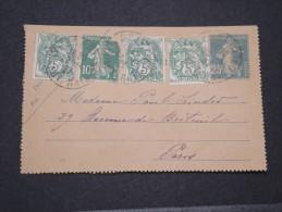 FRANCE - Entier Avec Complément D'affr. Varié - 1927 - A Voir - Lot P16025 - Enteros Postales