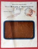 AMBULANTE  MILANO - GENOVA - 44 - SU BUSTA MINIERE DI MONTECATINI DEL 1917 - Marcophilia