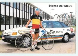 Etienne DE WILDE . 2 Scans. Cyclisme. Sigma - Cyclisme