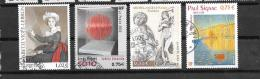 TIMBRES . OBLITERATION RONDE . N° 3526-3535-3558-3584...TBE.. - France
