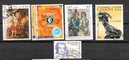 TIMBRES . OBLITERATION RONDE .SERIE ARTISTIQUE. N°3257-3258-3289-3301-3309.   TBE. - France