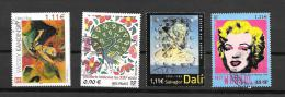 TIMBRES.  OBLITERATION RONDES...ARTISTIQUE.  N°3628-3630-3676-3585.  TBE. - France