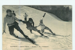 SPORTS D' HIVER - SKIEURS - Le TELEMARK - Superbe Plan - TBE - 2 Scans - Sports D'hiver