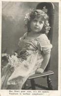 ENFANTS - LITTLE GIRL - MAEDCHEN - Jolie Carte Fantaisie Portrait Fillette - Portretten
