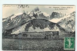 LA MURE - Le Mont Obiou -  Vu De Pellafol  - Animée Avec Attelage SINGER - 2 Scans - La Mure