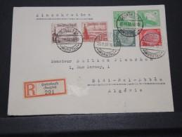 ALGERIE - Env Recommandée D´Allemagne Pour Sidi Bel Abbès Algérie Joliment Affranchie - Nov 1937 - A Voir - Lot P16029 - Algérie (1924-1962)