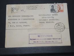 URSS - Env Recommandée De Moscou Pour Paris - Très Bien Marquée - Dos Moyen - Mai 1956 - A Voir - Lot P16030 - 1923-1991 URSS