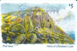 PITCAIRN ISLANDS $5 PALM TREE LANDSCAPE GPT PIT1 2000 ONLY !! ISSUED 1998 PLEASE READ DESCRIPTION !! - Pitcairn Islands