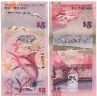 """Attractive BERMUDA  5 Dollars   P58a    Dated 1.1.2009    Serial  """"Onion""""       UNC - Bermudas"""