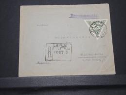 ALGERIE - Env Recommandée Par Avion De Lettonie Pour Sidi Bel Abbès - Juin 1937 - Voir Dos - A Voir - Lot P16031 - Algérie (1924-1962)