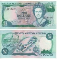 BERMUDA  2 Dollars   P40Ab    Dated 1.6.1997        UNC - Bermudas