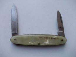 - Couteau. Canif - Ancien Couteau 2 Lames - Publicitaire. Potages MAGGI - - Couteaux
