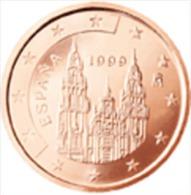 Spanje 1999     1 Cent        UNC Uit De Rol  UNC Du Rouleaux  !! - Espagne
