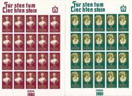 Liechtenstein 1980 Europa Sheetlets MNH - Europa-CEPT