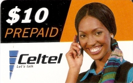 TARJETA DE ZAMBIA DE $10 DE CELTEL (MUJER-WOMAN)