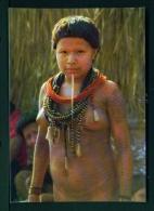 BRASIL  -  Surui Girl With Tembeta  Unused Postcard - Brazil
