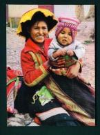 BRASIL  -  Cusco  Paucartambo Indian Mother  Unused Postcard - Peru