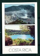 COSTA RICA  -  Poas Volcano  Dual View  Unused Postcard - Costa Rica