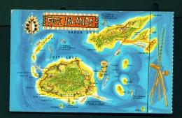 FIJI  -  Map Of The Islands  Unused Postcard - Fiji