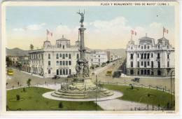 Peru - LIMA - Plaza Y Monumento - Dos De Mayo , 1928 - Peru