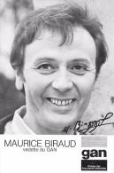 "¤¤  -   L' Artiste "" Maurice BIRAUD ""  -  Carte Publicitaire Des Assurance "" GAN ""    -  ¤¤ - Cinema"