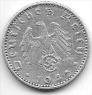 Third Reich 50 Pfennig 1942 A  Km 96   Xf - [ 4] 1933-1945 : Tercer Reich