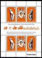 Gambia MNH Scott #380 Minisheet Of 6 Queen Elizabeth II 25th Anniversary Of Coronation - Gambie (1965-...)