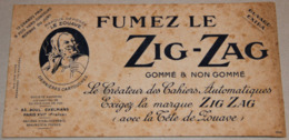 Fumez Le ZIG-ZAG Marque Le Zouave - Tobacco