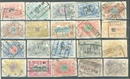 _5Ez-828:  Restje Van 20 Zegels: .... Om Verder Uit Te Zoeken... Oa: NEERPELT, BEVEREN-WAES, WILRYCK, OTTIGNIES, NIVELLE - 1895-1913