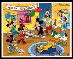 Gambia MNH Scott #815 Souvenir Sheet 15d Mickey, Minnie, Goofy, Pluto, Donald, Daisy - Disney Mickey's 60th Anniversary - Gambie (1965-...)