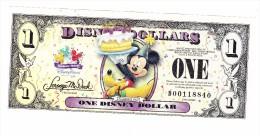 Disney Dollars One Dollar Note