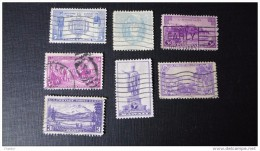 Etats-Unis  1921 -40 Lot De 7 Timbres Oblit* Y/T N° 360, 362, 369, 364, 365, 366, 367 - Used Stamps