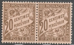 MONACO 1924 / 1932  PAIRE N° 18  -  Timbres Taxes NEUFS*  G31 - Segnatasse