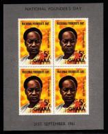Ghana MNH Scott #106a Souvenir Sheet Of 4 5sh Kwame Nkrumah - Conference Of Non-aligned Nations - Ghana (1957-...)