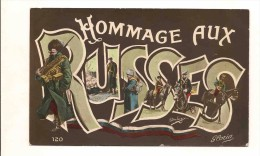 Carte Fantaisie Militaire - Hommage Aux RUSSES - Illustrateur - Militaria