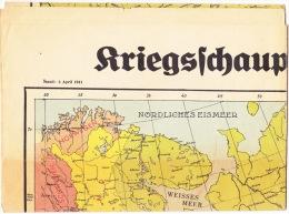 "Landkarte; "" Kriegsschauplatz Rußland"", Ca. 70 X 50 Cm. - Books, Magazines  & Catalogs"