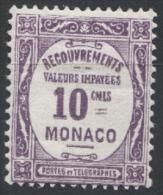 MONACO 1924 / 1932  N° 14  NEUF*  G31 - Segnatasse