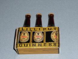 Porte-bouteilles Miniatures Carton, Lot 3 Mignonnettes De Bière Bouteille En Verre, Lilliputt GUINNESS HARP Murphy´s - Mignonnettes