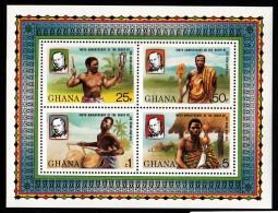 Ghana MNH Scott #708 Souvenir Sheet Of 4 Sir Rowland Hill 100th Anniversary Of Death - Ghana (1957-...)