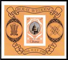 Ghana MNH Scott #762 Imperf Souvenir Sheet 7ce St. Paul´s Cathedral - Royal Wedding Charles And Diana - Ghana (1957-...)